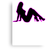 Sexy Woman Silhouette Canvas Print