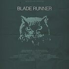 Blade Runner minimalist movie poster by OurBrokenHouse