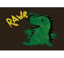 Halloween: Dino says RAWR Photographic Print
