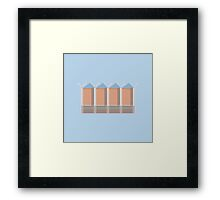 Penguin Warehouse Framed Print