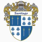 Santiago Coat of Arms/Family Crest by William Martin
