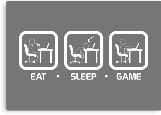 Eat, Sleep, Game (PC Version) by thehookshot