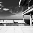 On the roof of Le Corbusier's Unité d'Habitation in Marseille - 2 by eyeshoot