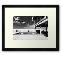 On the roof of Le Corbusier's Unité d'Habitation in Marseille - 2 Framed Print