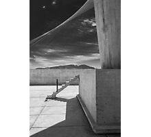 On the roof of Le Corbusier's Unité d'Habitation in Marseille - 4 Photographic Print