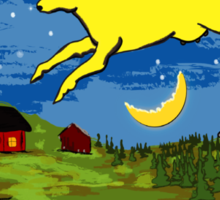 Goodnight Moon The Cow Jumping Over the Moon Sticker