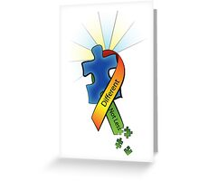 Autism Ribbon with Puzzle Peaces Greeting Card