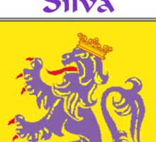 Silva Coat of Arms/Family Crest Sticker