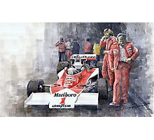 James Hunt Monaco GP 1977 McLaren M23 Photographic Print