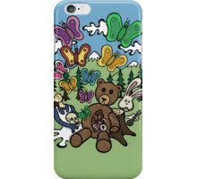 Teddy Bear And Bunny - Nervous iPhone Case/Skin