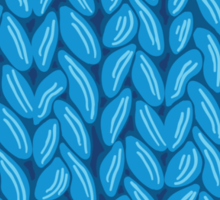 Blue knit sweater fabric pattern Sticker