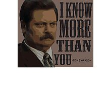 I know more than you Photographic Print