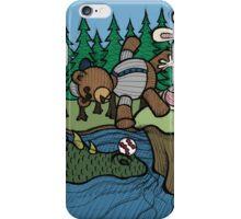 Teddy Bear And Bunny - The Baseball iPhone Case/Skin