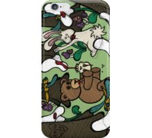 Teddy Bear And Bunny - The Blood Flowers iPhone Case/Skin