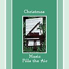 Christmas Music Card, Piano by Rosalie Scanlon