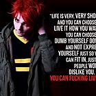 Gerard Way Quote #5 by DangerLine