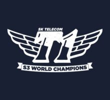 Navy SKT T1 World Champions Vintage Tee T-Shirt