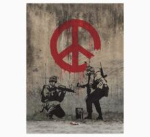 Soldiers Painting Peace by BanksyOfficial