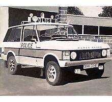Range Rover Police Car Photographic Print