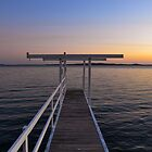 Wharf Sunset by MitzPicz