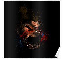 Paint Splatter Street Fighter: Honda Poster