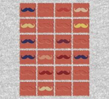 Funny Girly Mustache 2 by Nhan Ngo