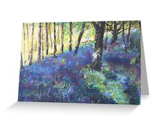In the Bluebell Woods  Greeting Card