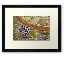 fruits and leaves Framed Print