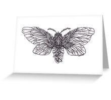 Steampunk Moth Greeting Card