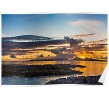 Sunset over the Inner Hebrides Poster