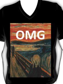 OMG The Scream Funny Shirt  T-Shirt