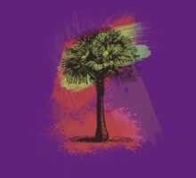 Grunge Palm Tree Summer T-Shirt by Denis Marsili