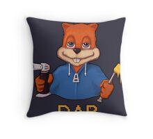 Squirrel Dab Throw Pillow