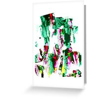 Green Snakes Greeting Card