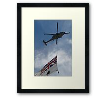 SeaHawk and Ensign Framed Print