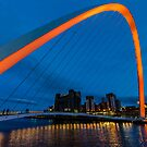 Gateshead at Night by Trevor Kersley