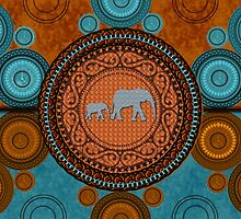 Decorated Elephants by jadedesigns