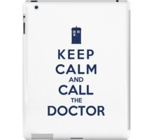 Keep Calm And Call The Doctor (Color Version) iPad Case/Skin