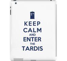 Keep Calm And Enter The Tardis (Color Version) iPad Case/Skin