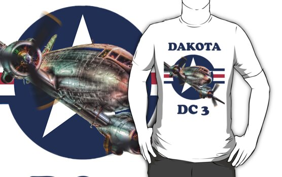 Douglas DC3 Dakota Tee Shirt by Colin J Williams Photography