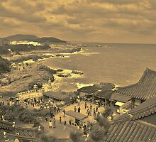 Dragon Temple - Sepia by Fike2308