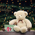 Happy Holidays Teddy Bear  by Renee Dawson