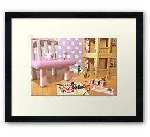 A Child's Playroom - Where The Toys Live Framed Print