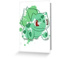 Bulbasaur Splatter Greeting Card