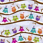 winter owls by Ancello