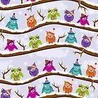 winter owls by Ancello