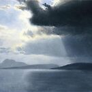 Bierstadt Albert Approaching Thunderstorm on the Hudson River.  by naturematters
