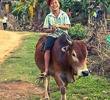 The Happy Cow Boy, Phong Nha, Vietnam, 2013 by Zati