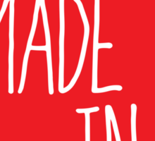 Made in Wisconsin - Red Sticker