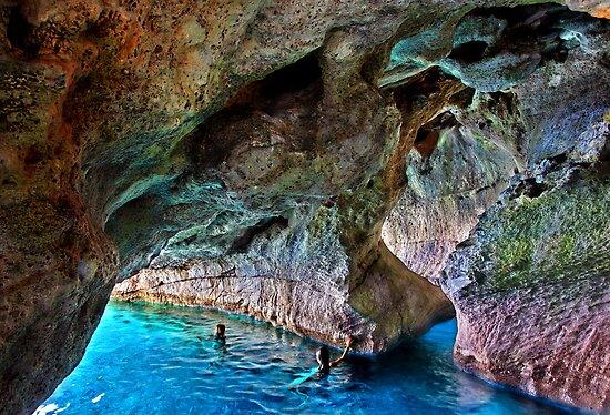 Swimming in the sea caves of Crete by Hercules Milas
